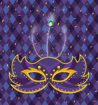 Masker met harlekijn