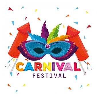 Masker met veren en vuurwerk tot traditionele carnavalviering