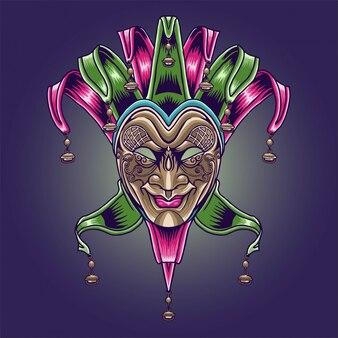 Maskers en carnaval mardi gras