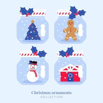 Mason jar kerst ornamenten