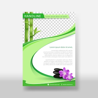 Massage of natural flyer & poster cover template