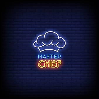 Master chef neon signs style text