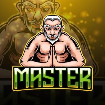Master esport mascotte logo ontwerp