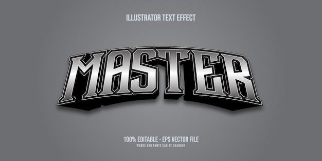 Master zilver tekststijleffect