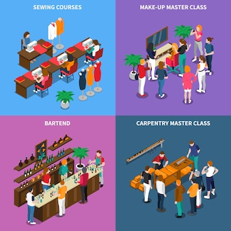 Masterclass en cursussen concept