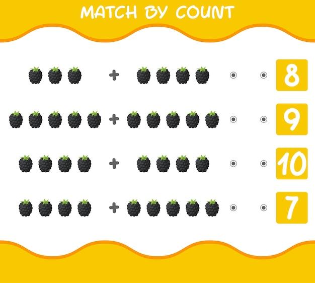 Match by count van cartoon bramen educatief spel