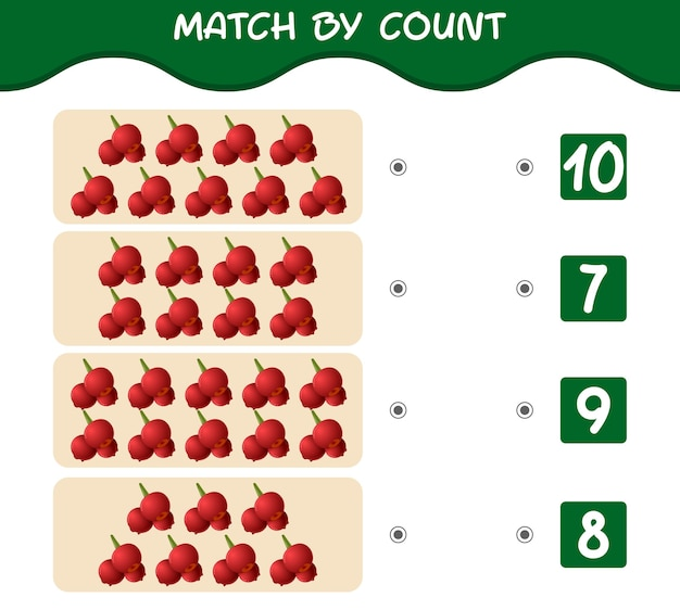 Match by count van cartoon cranberries educatief spel
