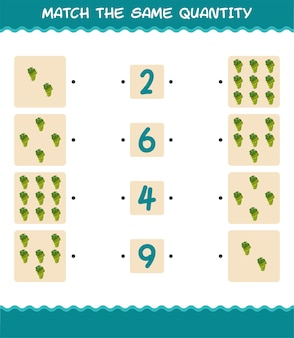 Match dezelfde hoeveelheid witte druif. spel tellen. educatief spel voor kleuters en kleuters