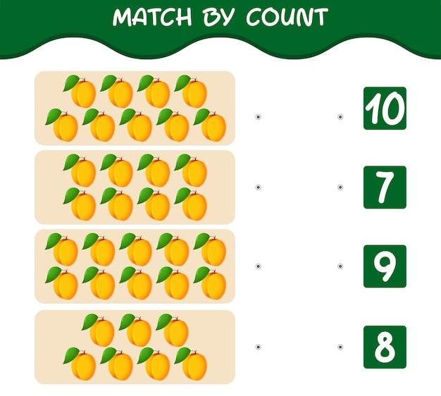 Match door telling van cartoon abrikozen