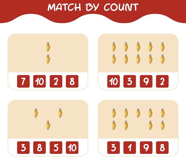 Match door telling van cartoon kerst ornament. match en tel spel. educatief spel voor kinderen en peuters in de kleuterklas