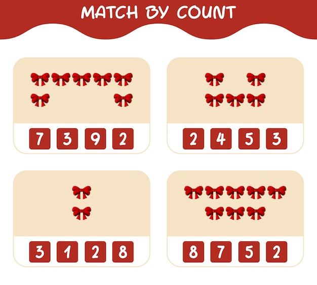 Match door telling van cartoon lint. match en tel spel. educatief spel voor kinderen en peuters in de kleuterklas