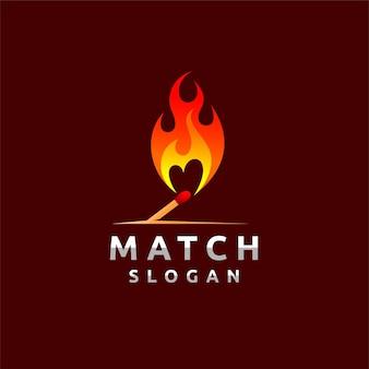 Match logo met belettering concept