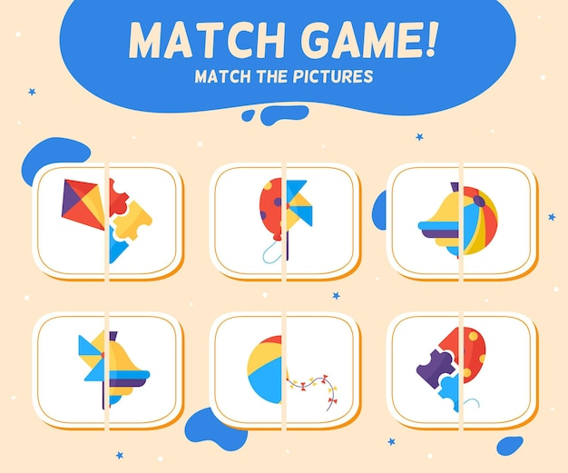 Match spel voor kinderen