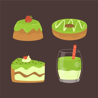 Matcha dessertset