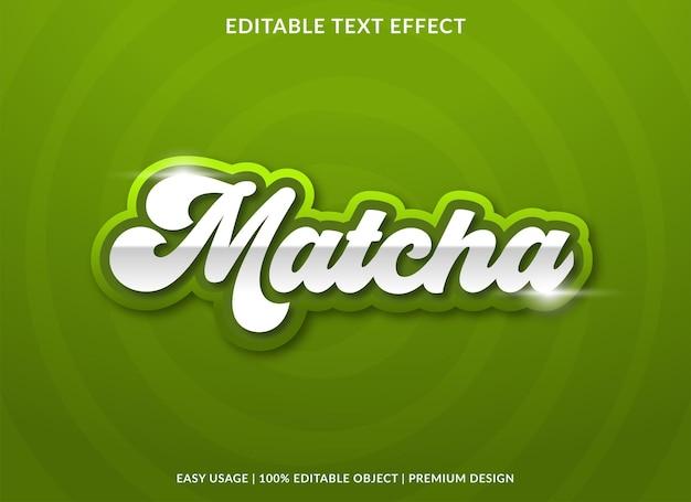 Matcha-teksteffectsjabloon met gewaagde stijl