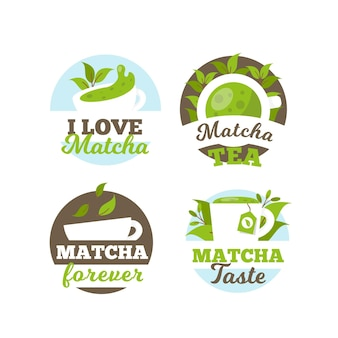 Matcha thee badge collectie concept