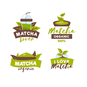 Matcha thee badge collectie
