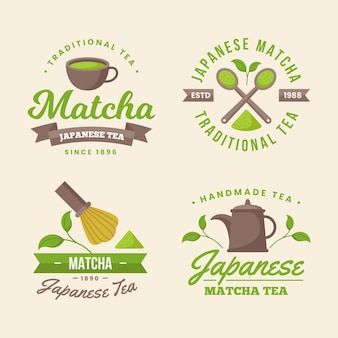 Matcha thee badges concept
