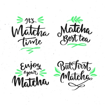 Matcha thee belettering collectie