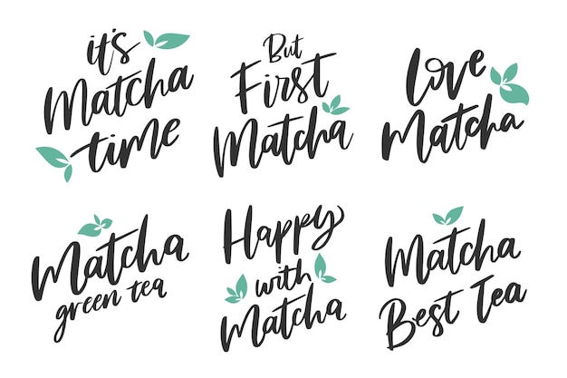 Matcha thee belettering pack