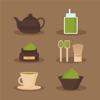 Matcha thee collectie concept