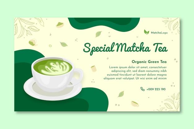 Matcha thee horizontale sjabloon voor spandoek