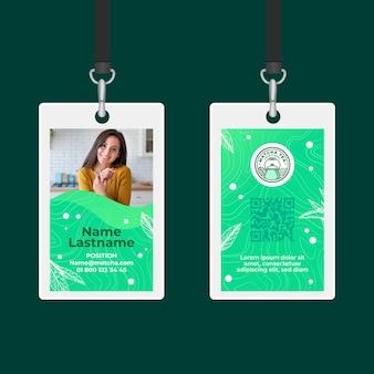 Matcha thee identiteitskaart sjabloon