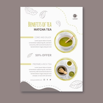 Matcha thee poster sjabloon