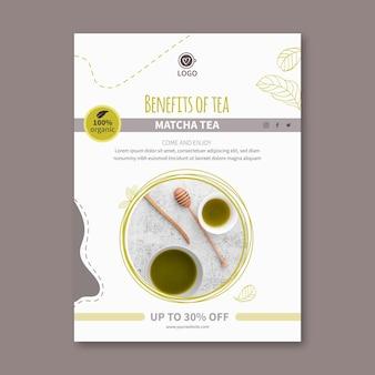 Matcha thee verticale flyer-sjabloon