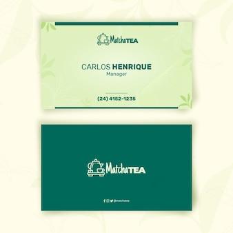 Matcha thee visitekaartje sjabloon