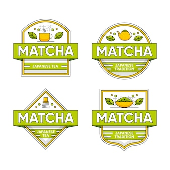 Matcha theebadges collectie