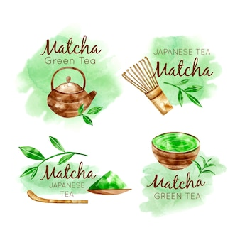 Matcha theebadges collectie