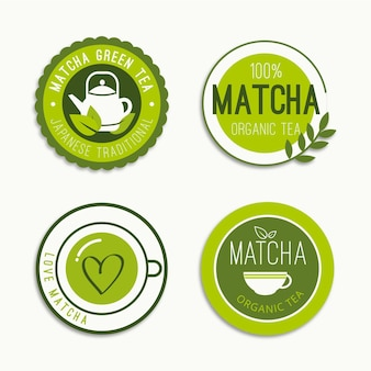 Matcha theebadges ingesteld