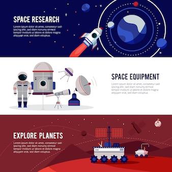 Materiaal voor ruimtevaartonderzoek voor planeten en sterren