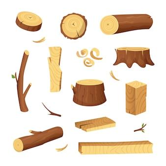 Materialen voor de houtindustrie.