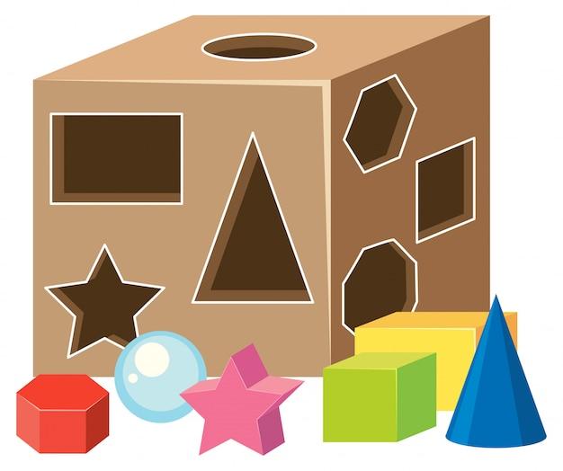 Math geometrie vormt speelgoed
