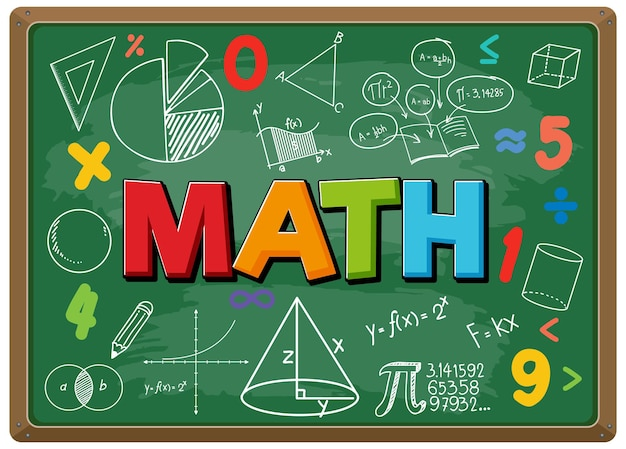 Math lettertype met formule op blackboard