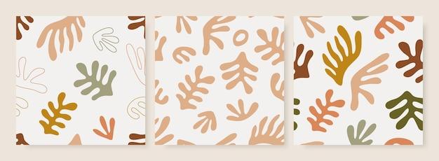Matisse geïnspireerde naadloze patronen set