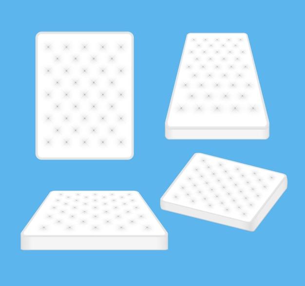 Matras voor een comfortabele slaapachtergrond. moderne zacht schuim matras vector design concept illustratie.