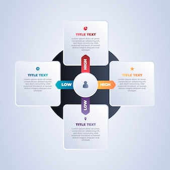Matrix grafiek infographic concept