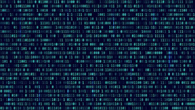 Matrixachtergrond met blauw licht
