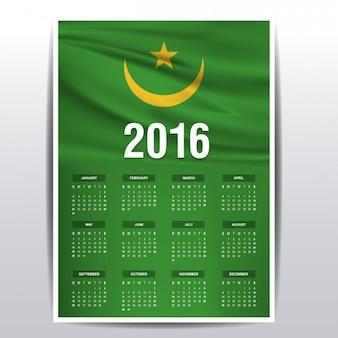 Mauritanië kalender van 2016