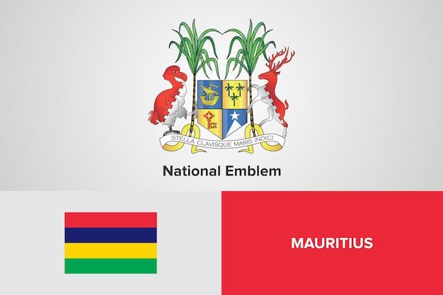 Mauritius nationale embleem vlag sjabloon