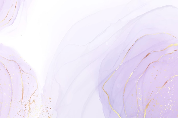 Mauve vloeibare aquarel achtergrond met gouden glitter splash