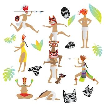 Maya-beschaving inheemse stammenmensen