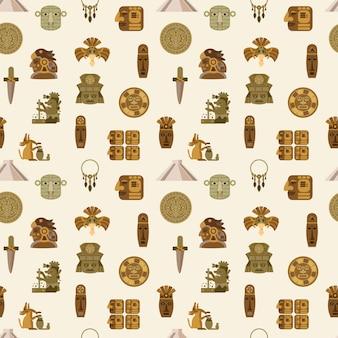 Maya naadloze patroon