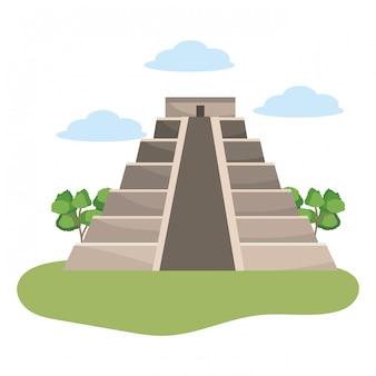 Maya piramide monument