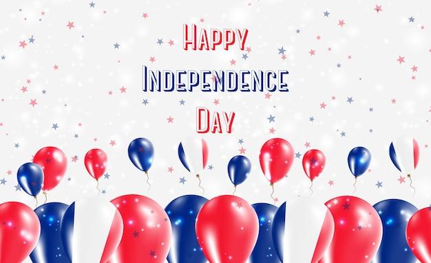 Mayotte onafhankelijkheidsdag patriottische ontwerp. ballonnen in franse nationale kleuren. happy independence day vector wenskaart.