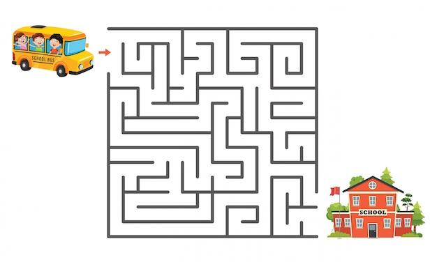 Maze game illustratie voor kinderen