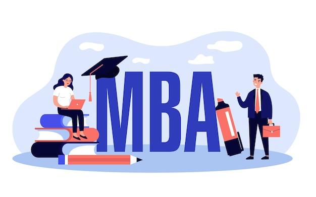 Mba-scholieren illustratie